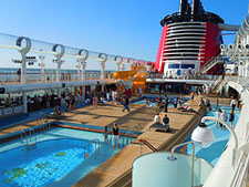 The AquaDuck on the Disney Dream is a great place to hang out during a 3 day Disney Cruise