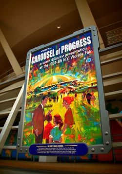 The poster from the Worlds Fair showing the Carousel of Progress