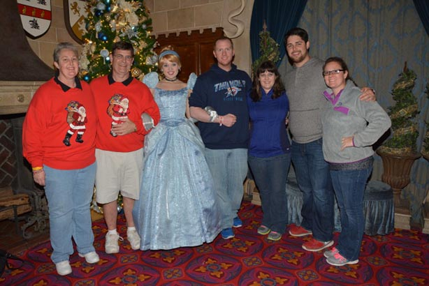 Dad and the Family at Cinderella's Royal Table
