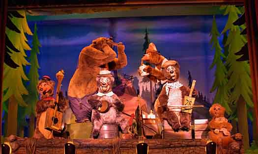 The 5 bear rugs at the Country Bear Jamboree