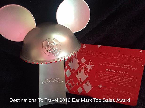 Destinations to Travel's Disney Ear Mark award