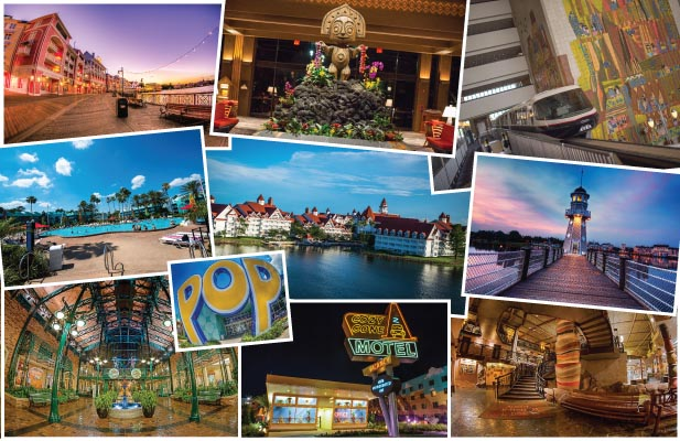 Montage of Disney Hotels