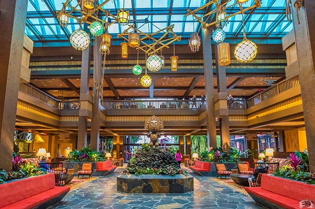The new lobby at the Polynesian Village Resort