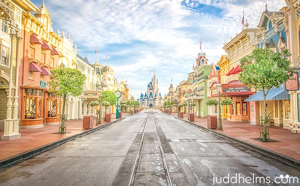 Main Street USA with no Disney World Crowds. None!