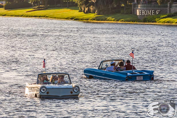 Amphicars at Disney Springs