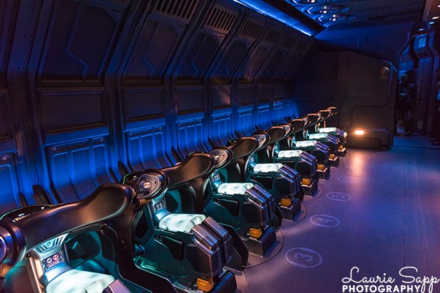 The ride vehicle from Flights of Passage