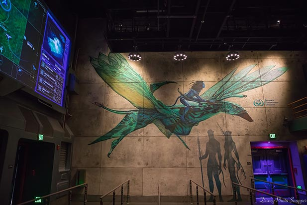 Wall art showing a full sized Banshee in Flights of Passage