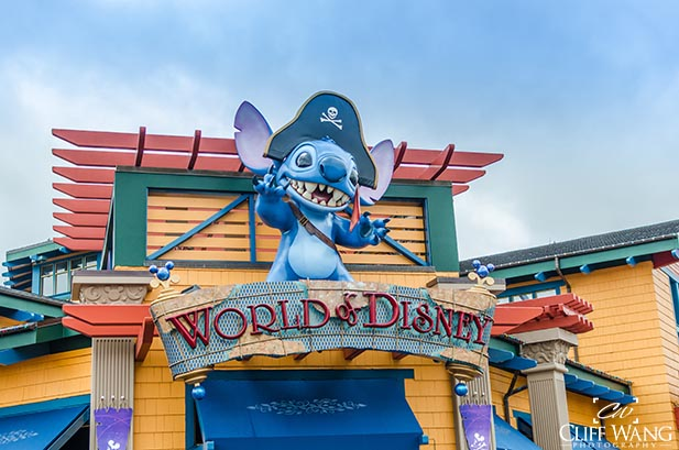 The entrance to the World of Disney Store at Disney Springs