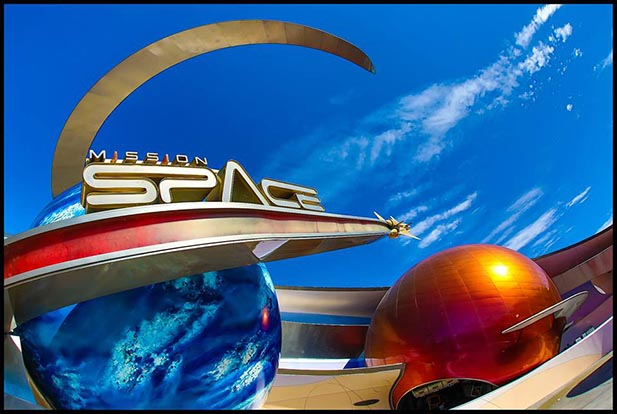 The entrance to Mission Space