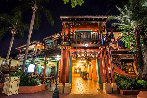 Tortuga Tavern is home to the Pirates of the Caribbean