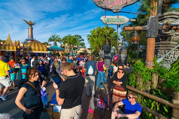 The December 30 crowds at the Magic Kingdom