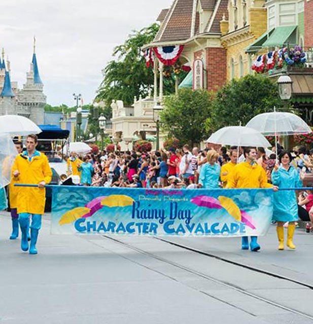 The Rainy Day parade at the Magic Kingdom