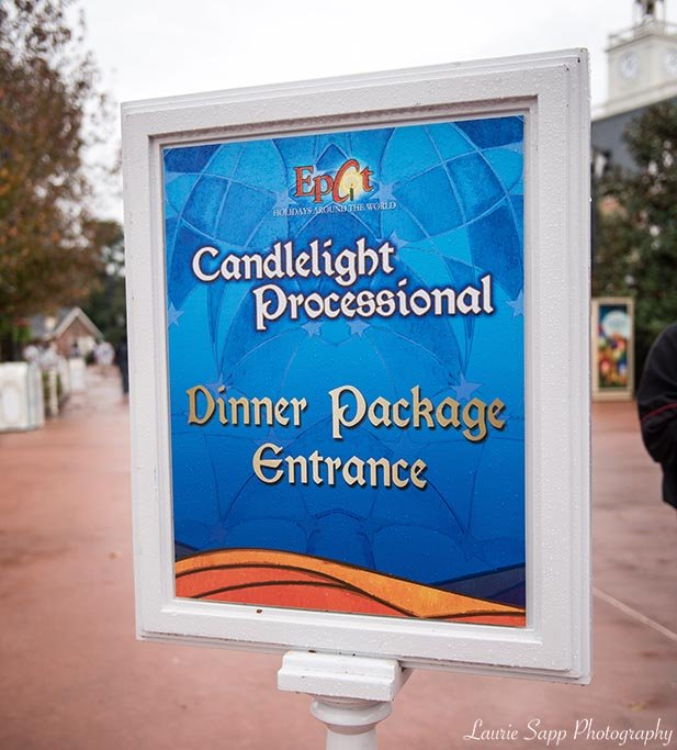The Candlelight Processional Dinner Package Sign