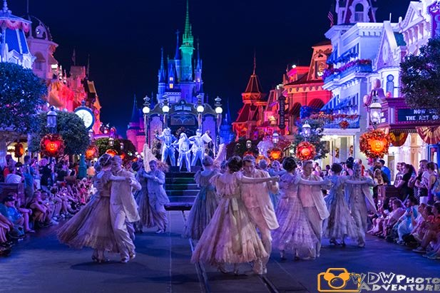 The Ballroom Dancers from the Boo to You Parade at Mickey's Not So Scary Halloween Party
