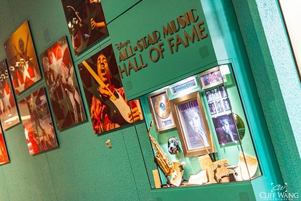 The music wall of Fame in the All Star Music