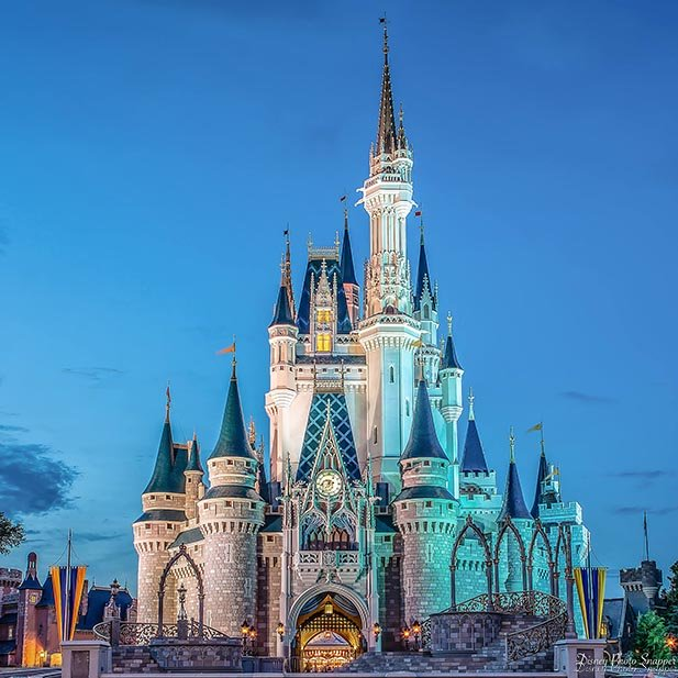 Cinderella Castle is the heart of the Magic Kingdom