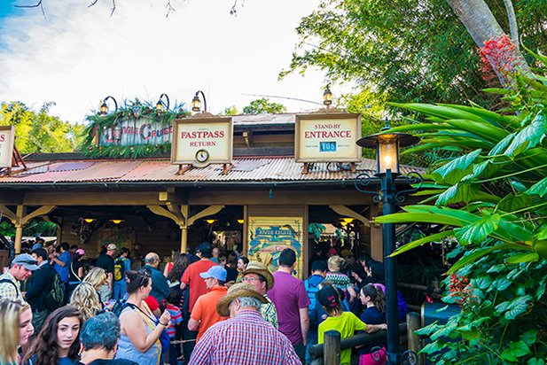 Jungle Cruise FastPass line at 105 minutes