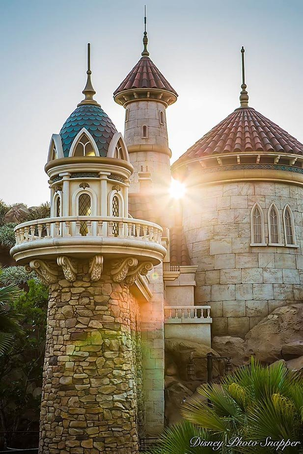 The sun rising over Prince Eric's Castle