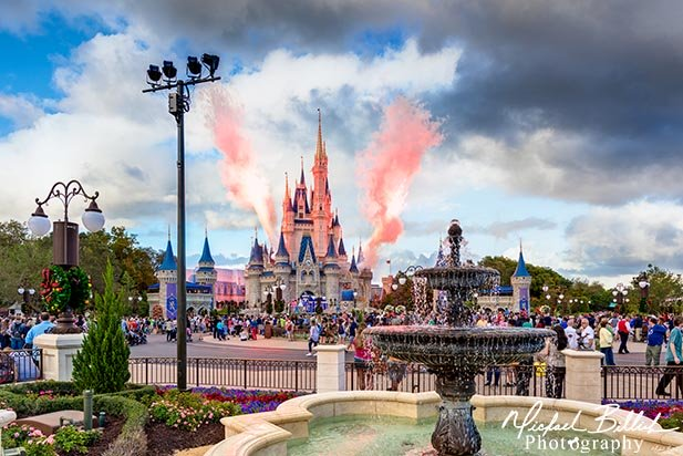 The Castle Stage shows have fireworks even during the day in the Magic Kingdom