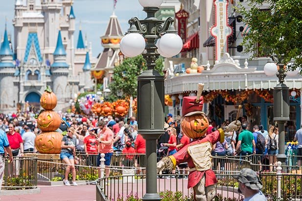 October means crowds and Halloween on Main Street