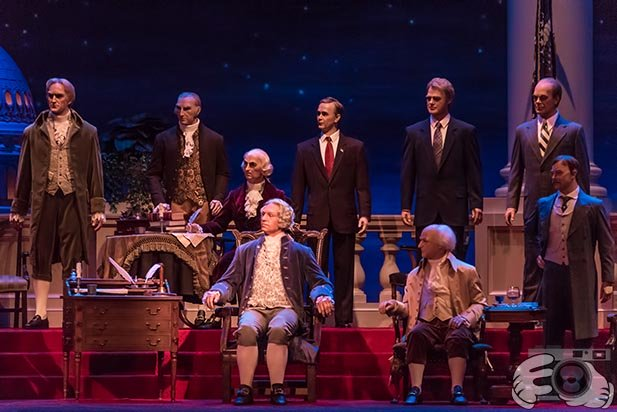 The Hall of Presidents is a good place to get away from the crowds on Presidents Day