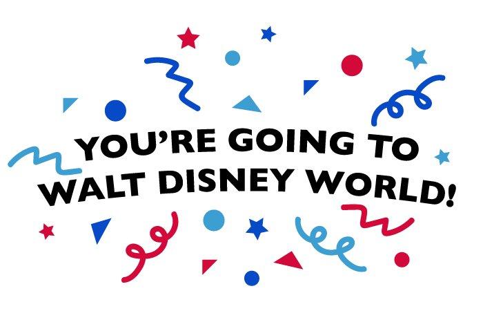 You're Going to Walt Disney World!!!