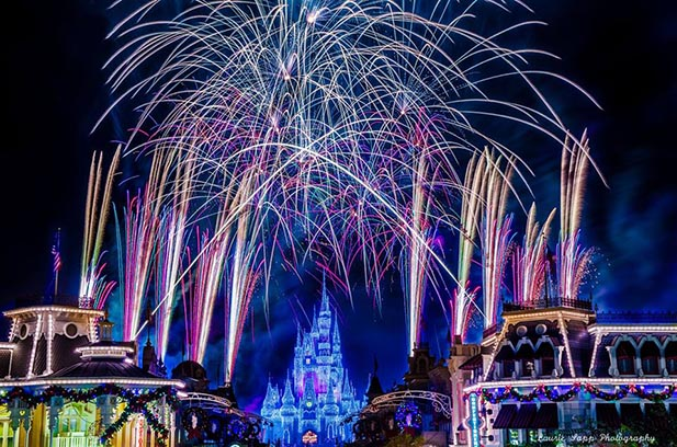 Holiday Wishes: Celebrate the Spirit of the Season fireworks at Mickey's Very Merry Christmas Party