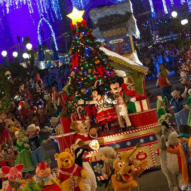 Mickey, Minnie, Pluto, Eeyore, Winnie the Pooh and other Mickey Pals join in Mickey's Very Merry Christmas Party