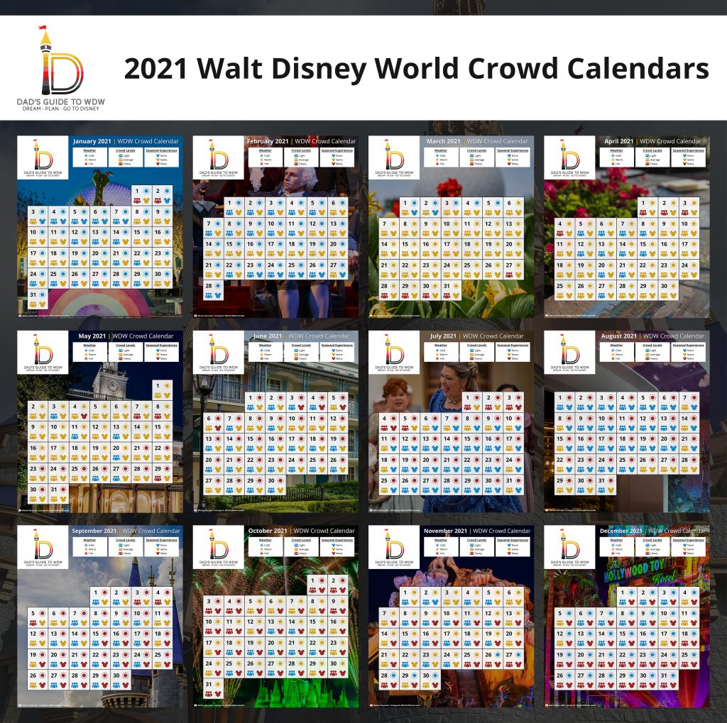2021 Disney World Crowd Calendars