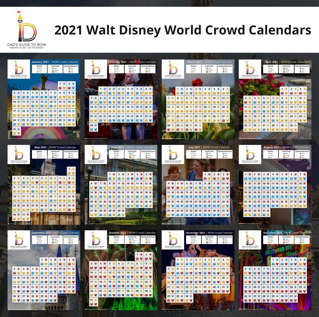 2021 Disney World Crowd Calendars