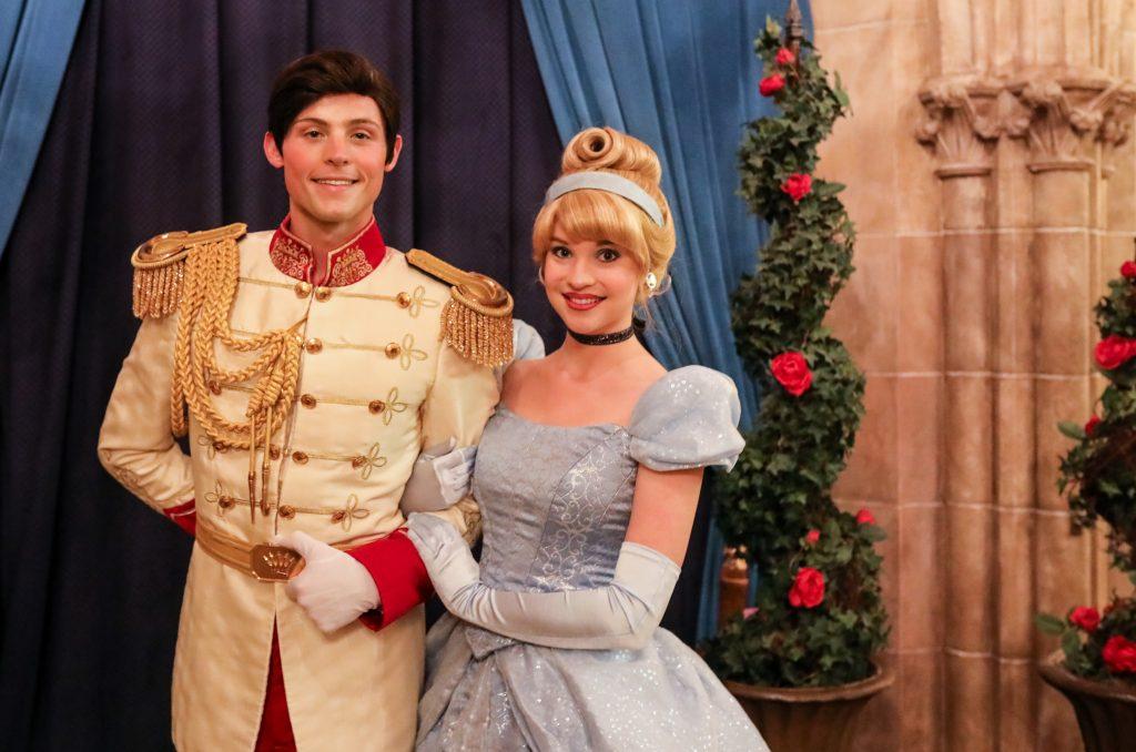 Cinderella and Prince Charming at Cinderella's Royal Table