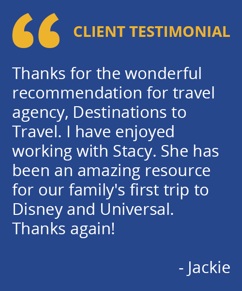 Destinations to Travel Testimonial - Jackie
