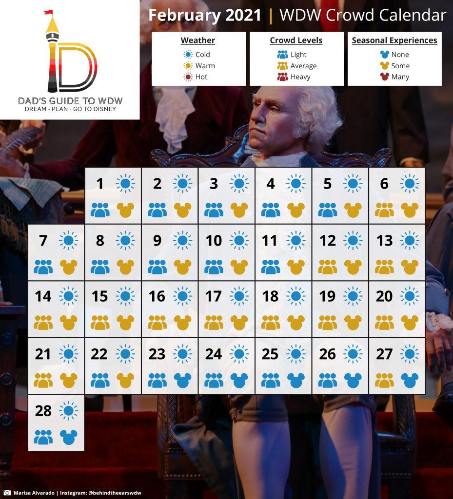February Disney World Crowd Calendar