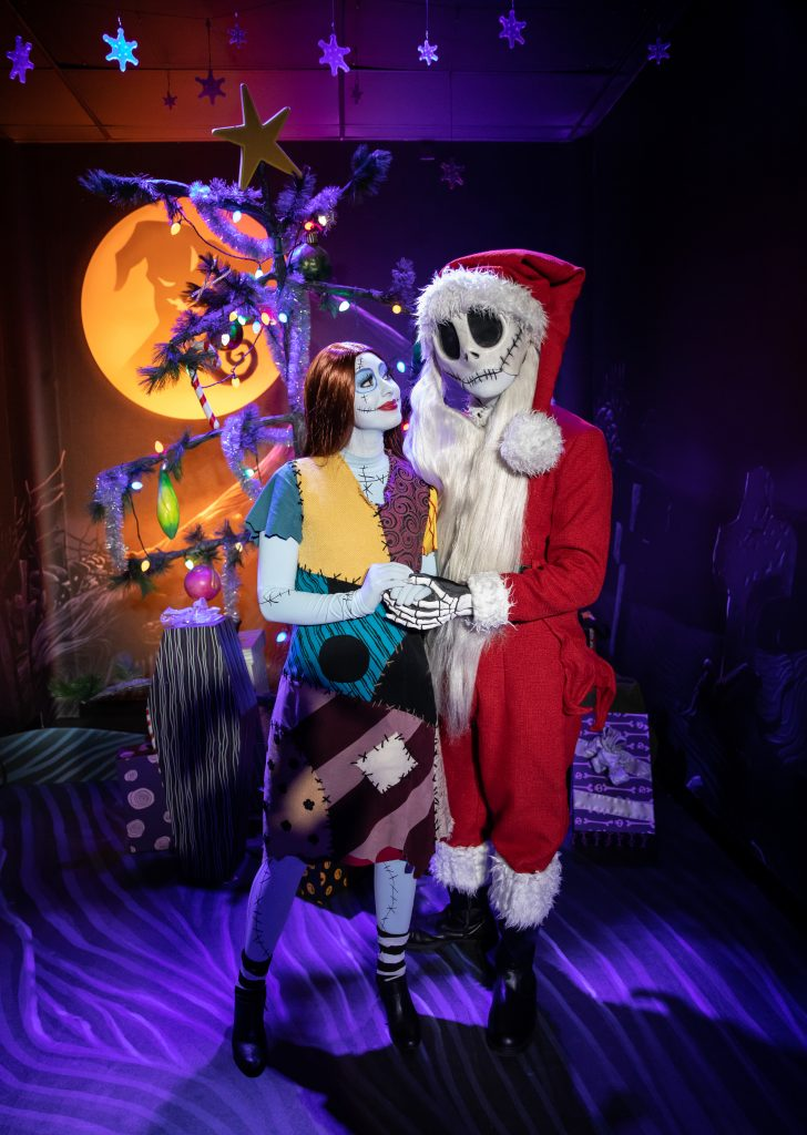 Sally and Jack Skellington as Sandy Claws