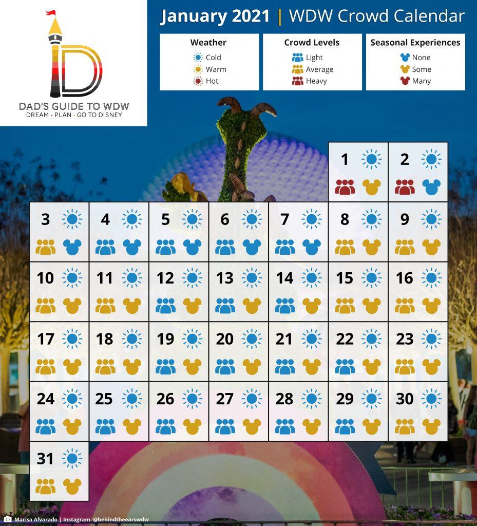 Dads Crowd Calendar 2022.Disney World Crowd Calendars For 2021 Start Planning Here