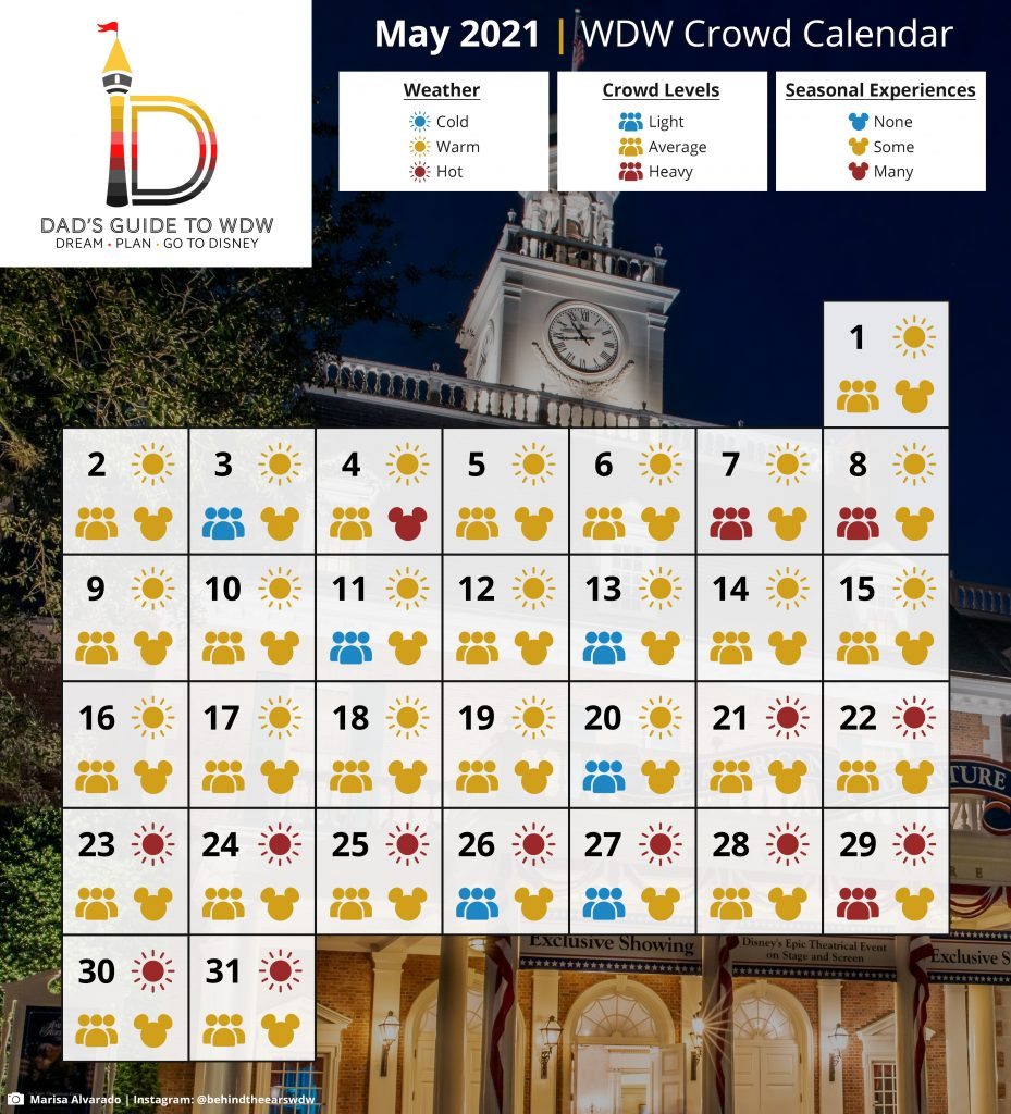 May 2021 Disney World Crowd Calendar